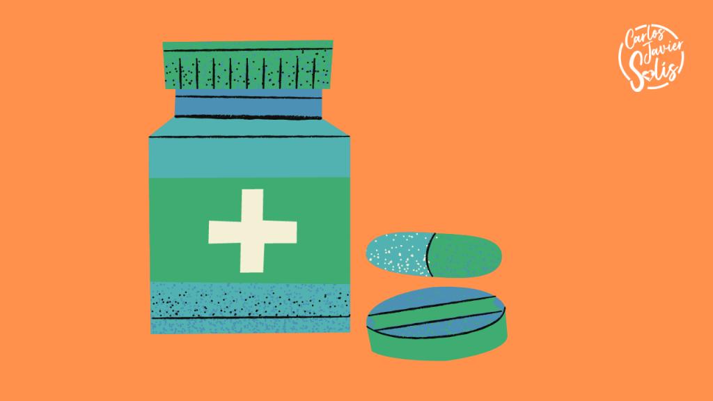 Medicación personal del botiquín de viaje